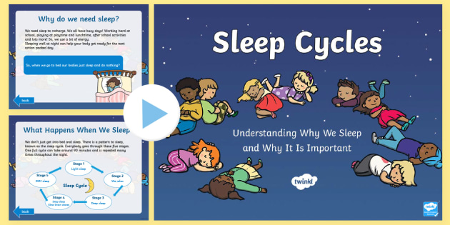 CfE First Level Sleep Cycles PowerPoint - health and wellbeing, first level, sleep, sleep cycles, wellbeing, ,Scottish