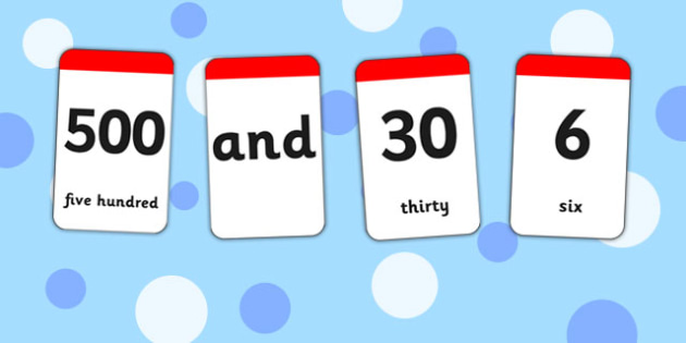 Number and Word Digit Cards - number, word, digit cards, cards