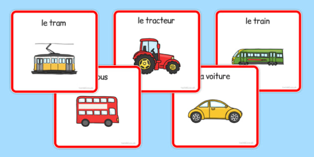Transport Sorting Cards French - vehicles, cars, lorries, helicopter, vocabulary, van, lorry, France, French, MFL, Francais