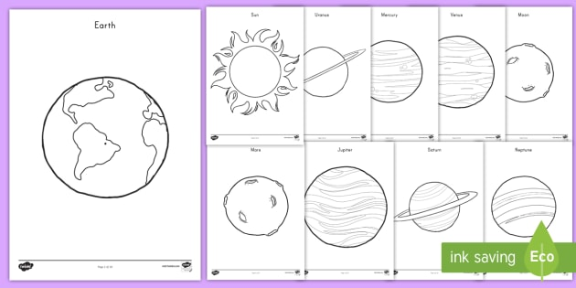 Planets Coloring Pages - space, outer space, planets, solar ...