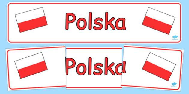 Banner na gazetkę Polska po polsku