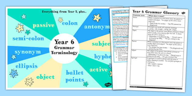 Use Understand Grammatical Terminology Appendix KS2 Y6 Ideas Pack