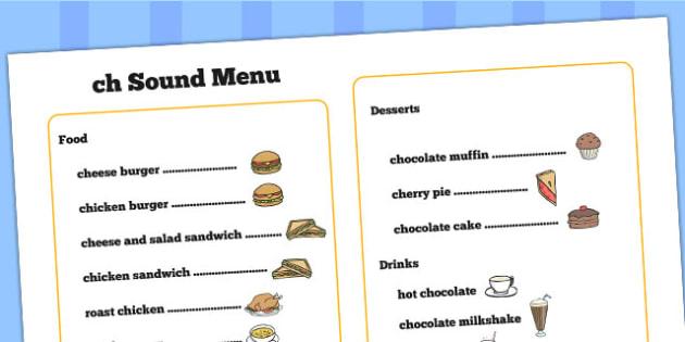 ch Sound Menu - ch, ch sound, menu, role play, sound game, sounds