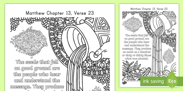 Matthew 1323 Mindfulness Coloring Page