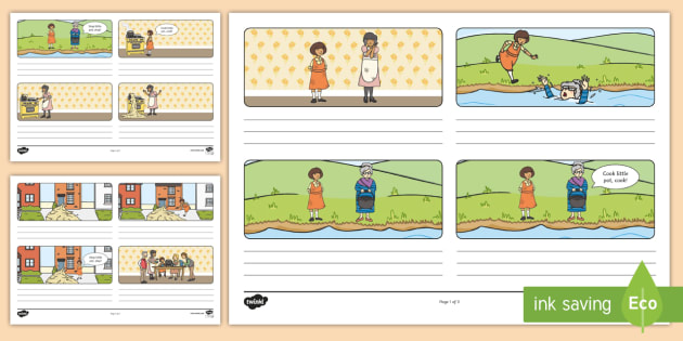 The Magic Porridge Pot Storyboard Template - the magic porridge pot, storyboard, template