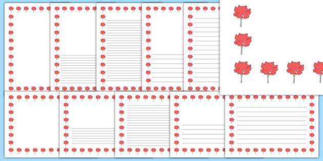 Maple Tree Themed Page Borders - maple tree, themed, page borders, page, borders