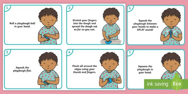 'Get Your Playdough' Child Activity Cards - Playdough Play, dough disco, finger gym, fine motor skills, physical development