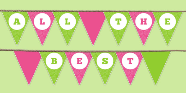 All the Best Bunting - all the best, bunting, display bunting, display, school leavers