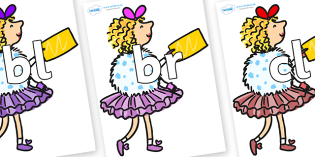 Initial Letter Blends on Veruca Salt - Initial Letters, initial letter, letter blend, letter blends, consonant, consonants, digraph, trigraph, literacy, alphabet, letters, foundation stage literacy