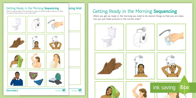 Getting Ready In The Morning Sequencing Worksheet Activity