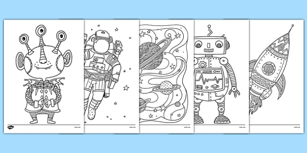 Space Themed Mindfulness Colouring Sheets  space mindfulness