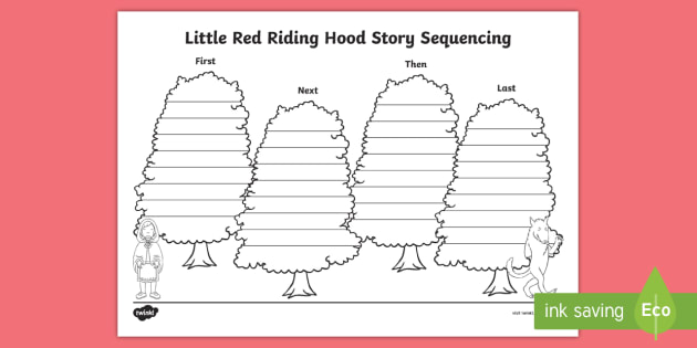 new little red riding hood story sequencing activity sheet. Black Bedroom Furniture Sets. Home Design Ideas