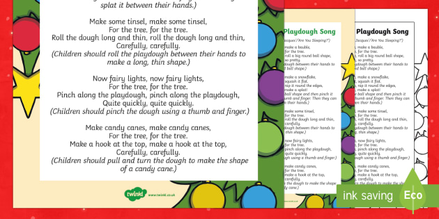 Christmas Tree Playdough Play Song - EYFS, Early Years, Christmas, winter, Playdough Play,Dough Disco, finger gym, fine motor skills, Phy