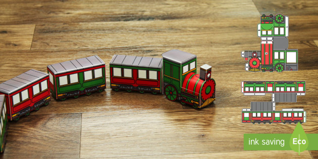 Christmas History In Hindi.3d Christmas Train Paper Model Display Paper Craft English