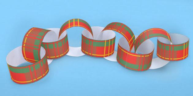 Tartan Paper Chain - tartan, paper, chain, scotland, burns night
