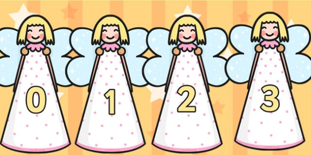 Numbers 0-30 on Angels - Christmas, xmas, angels, advent, nativity, santa, father christmas, Jesus, tree, stocking, present, activity, cracker, angel, snowman, advent , bauble, Foundation Numeracy, Number recognition, Number flashcards, 0-30, A4, dis