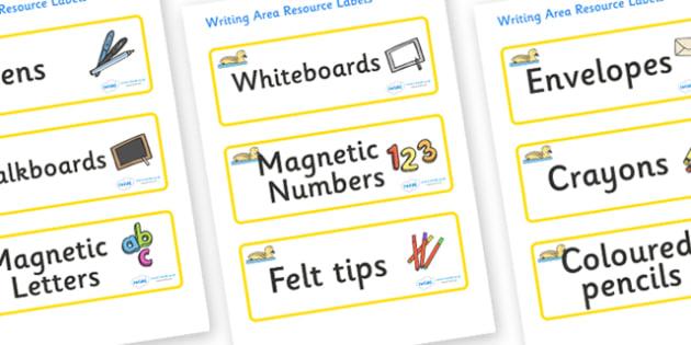Gosling Themed Editable Writing Area Resource Labels - Themed writing resource labels, literacy area labels, writing area resources, Label template, Resource Label, Name Labels, Editable Labels, Drawer Labels, KS1 Labels, Foundation Labels, Foundatio
