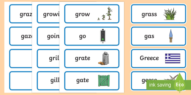 'gr' and 'g' Near Minimal Pair Word Cards - phonological processes, cluster reduction, cluster simplification, articulation, dyspraxia, apraxia
