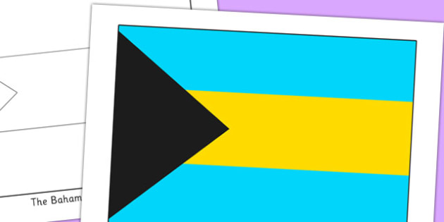 The Bahamas Flag Display Poster - countries, geography, flags