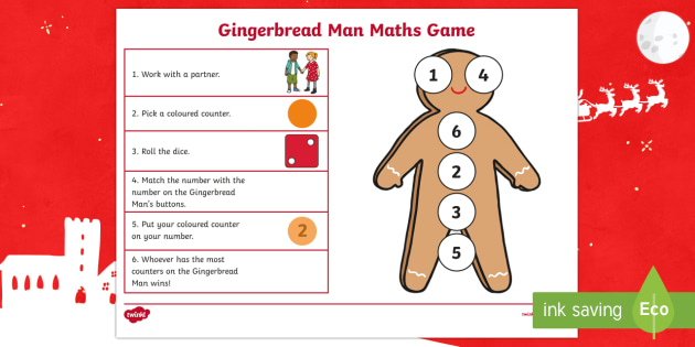Gingerbread Man Number Game