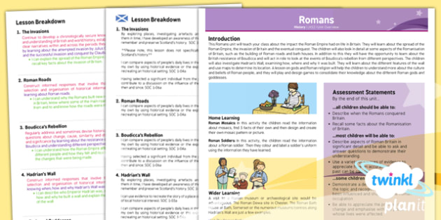 History: The Romans LKS2 Planning Overview CfE