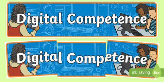Digital Competence Framework Display Banner-Welsh