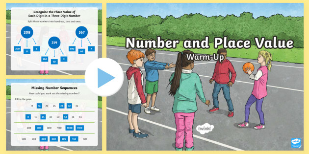 Year 3 Number and Place Value Warm-Up PowerPoint - KS2 Maths warm up powerpoints, Numeracy, Year 3, Number and Place Value,  number work, estimation, e