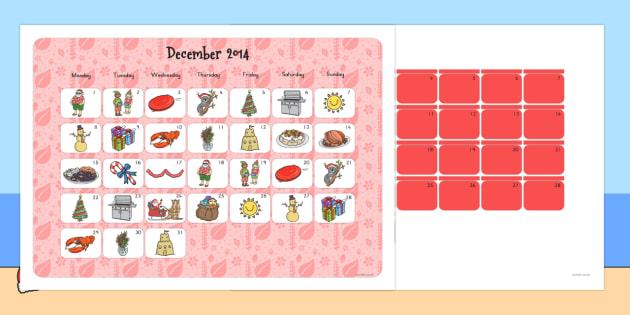 Australian Christmas Advent Calendar - australia, christmas