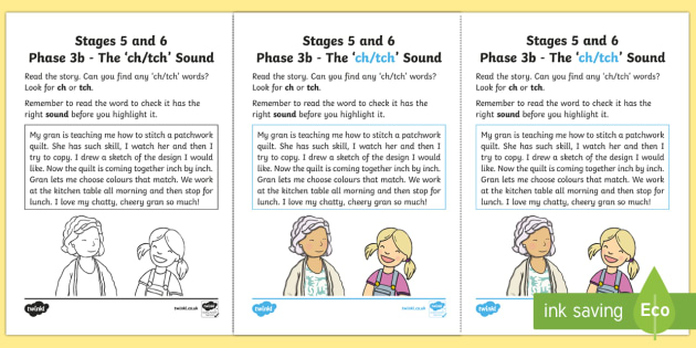 Northern Ireland Linguistic Phonics Stage 5 and 6 Phase 3b, 'ch, tch' Sound Activity Sheet  - Linguistic Phonics, Phase 3b, Northern Ireland, 'ch', 'tch', sound, sound search, text, Worksh