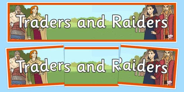 Traders and Raiders Display Banner - traders, raiders, display banner, display, banner