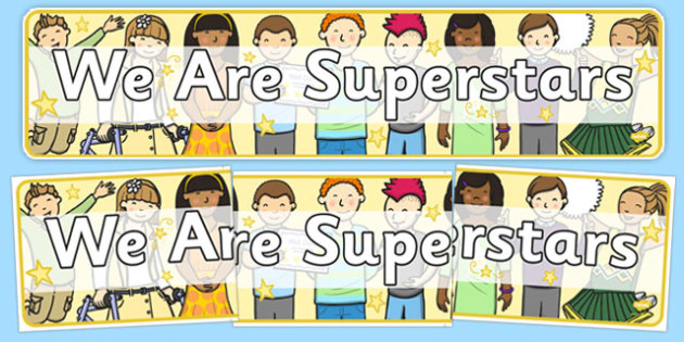 We Are Superstars Display Banner - we, are, superstars, display banner, display, banner