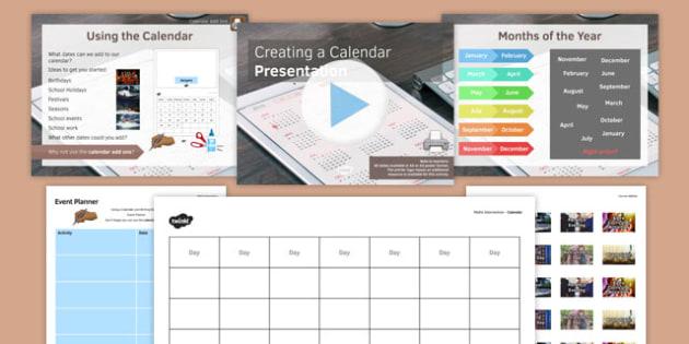 Creating a Calendar PowerPoint