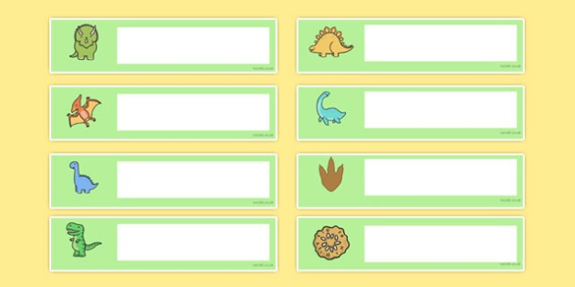 cute dinosaur themed editable gratnells tray labels tray
