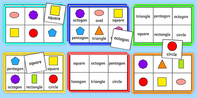 2d Shape Bingo Pack Numeracy Geometry Shapes 2d