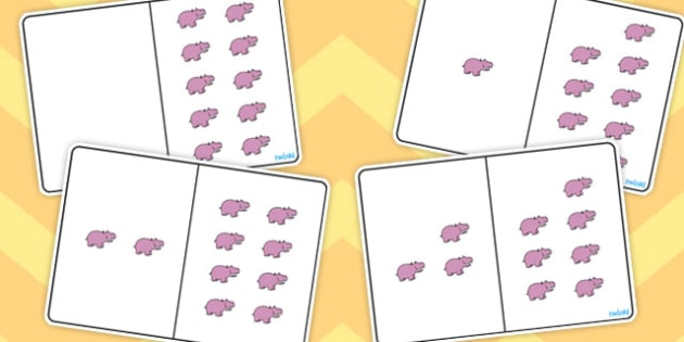 Hippo Counting Number Bonds to 10 - numbers, counting, numeracy