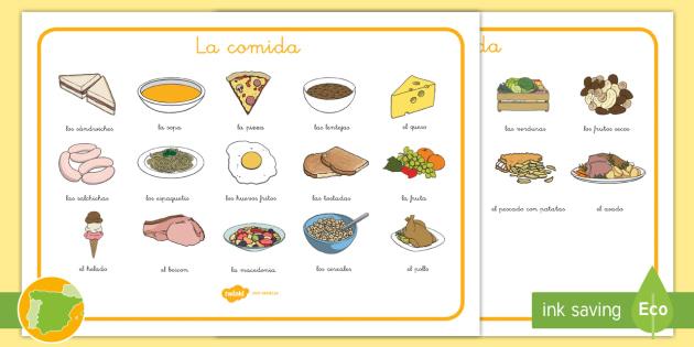 New tapiz de vocabulario la comida tapiz de vocabulario - Alimentos en ingles vocabulario ...