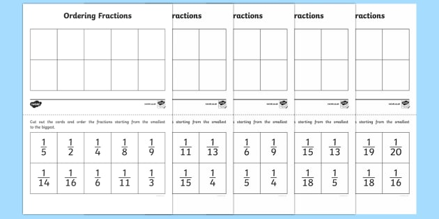 ordering unit fractions activity  fractions unit fractions year  y ordering unit fractions activity  fractions unit fractions year  y  ordering
