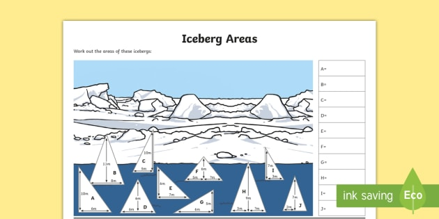 uks2 iceberg areas differentiated worksheet activity sheets. Black Bedroom Furniture Sets. Home Design Ideas
