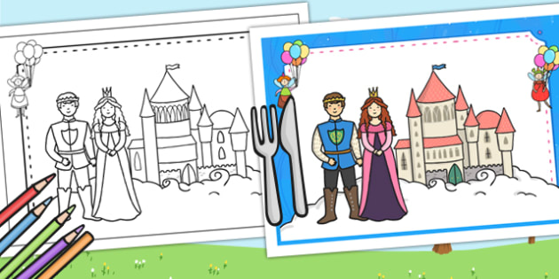 Fairytale Themed Birthday Party Place Mats - birthdays, parties