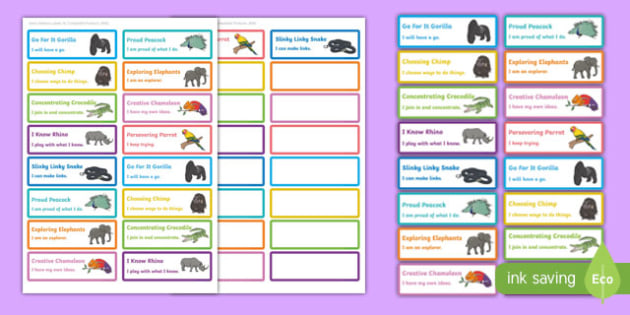 Animal Themed Characteristics of Effective Learning Stickers - COEL, animal, characteristics, effective learning, effective, learn, stickers