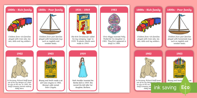 The History Of Toys Timeline Flashcards The History Of Toys Timeline