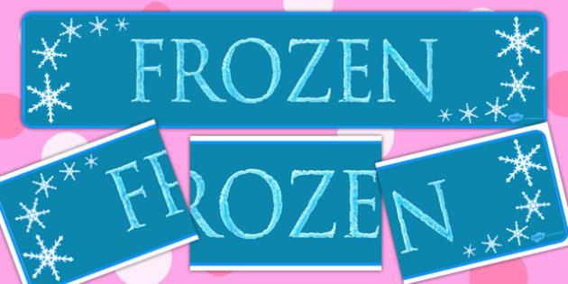 Frozen Display Banner - banners, displays, posters, visuals