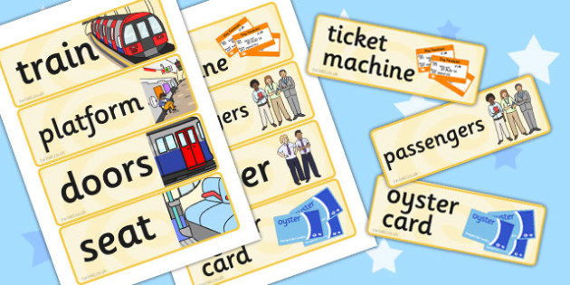 London Underground Role Play Labels - transport, roleplay, props