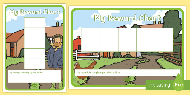 Farm Five Frame Sticker Reward Charts