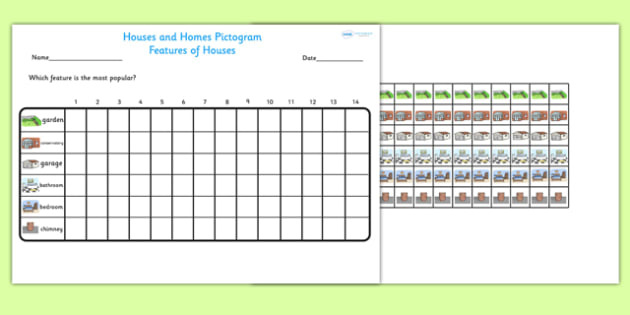Houses and Homes Pictograms Features of Houses Worksheet - houses and homes, pictograms, features of houses, houses, homes, features, houses and homes pictogram