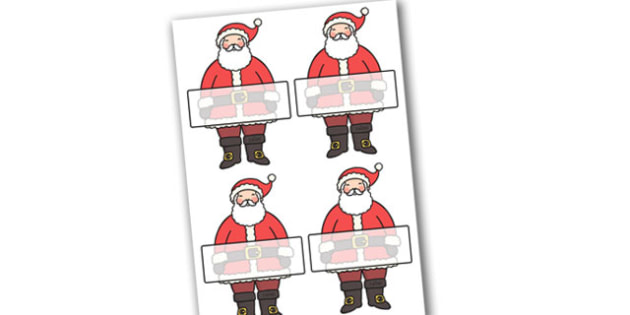 Self Registration Father Christmas Editable  - christmas, labels
