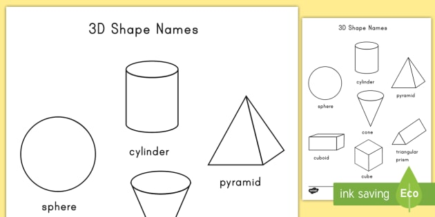 3D Shapes Coloring Activity