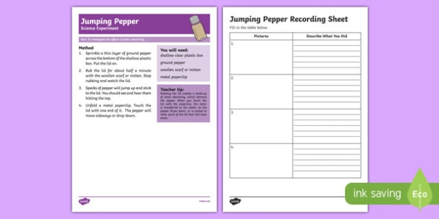 Jumping Pepper Science Experiment-Australia