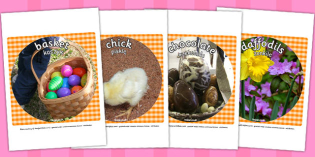 Easter Display Photo Cut Outs Polish Translation - polish, easter