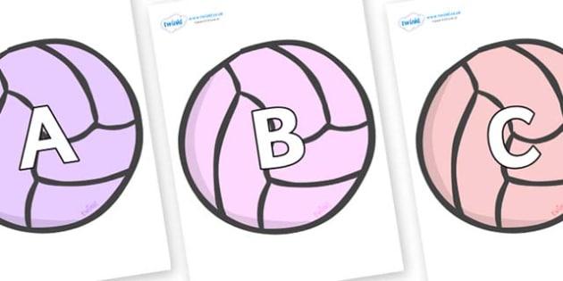 A-Z Alphabet on Balls - A-Z, A4, display, Alphabet frieze, Display letters, Letter posters, A-Z letters, Alphabet flashcards